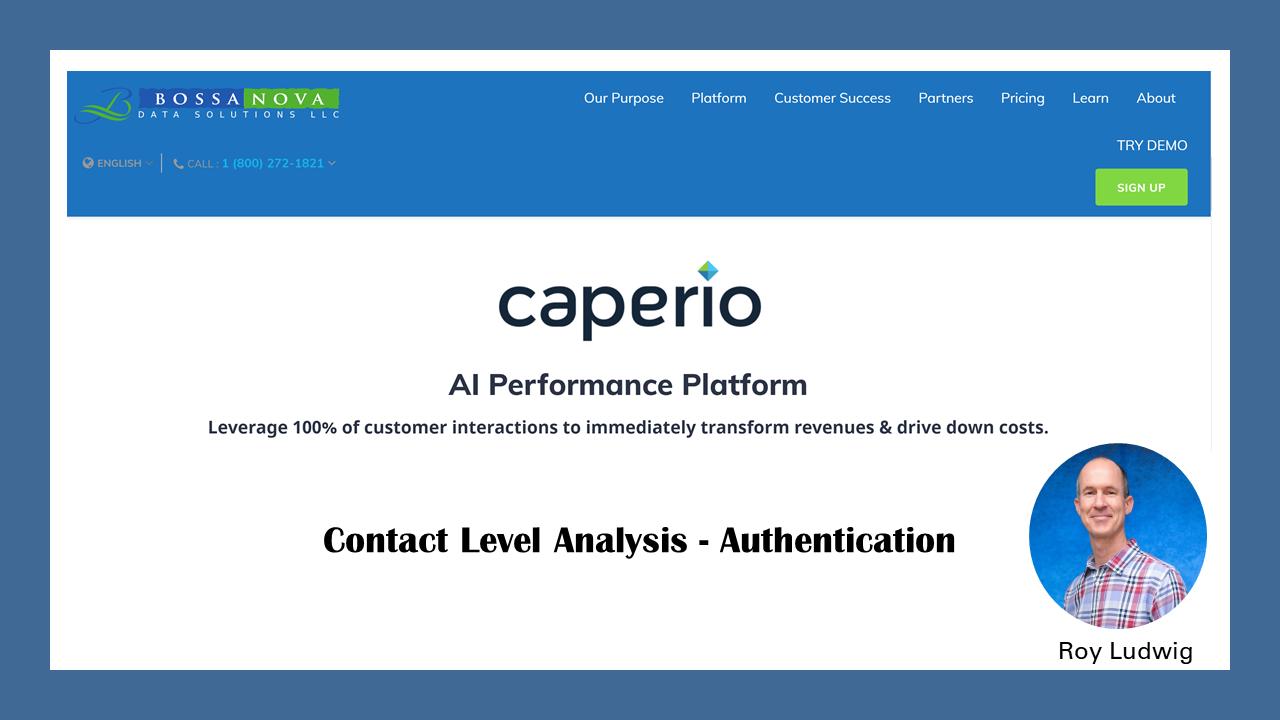 Análise ao nível do Contato- Autenticação do Cliente