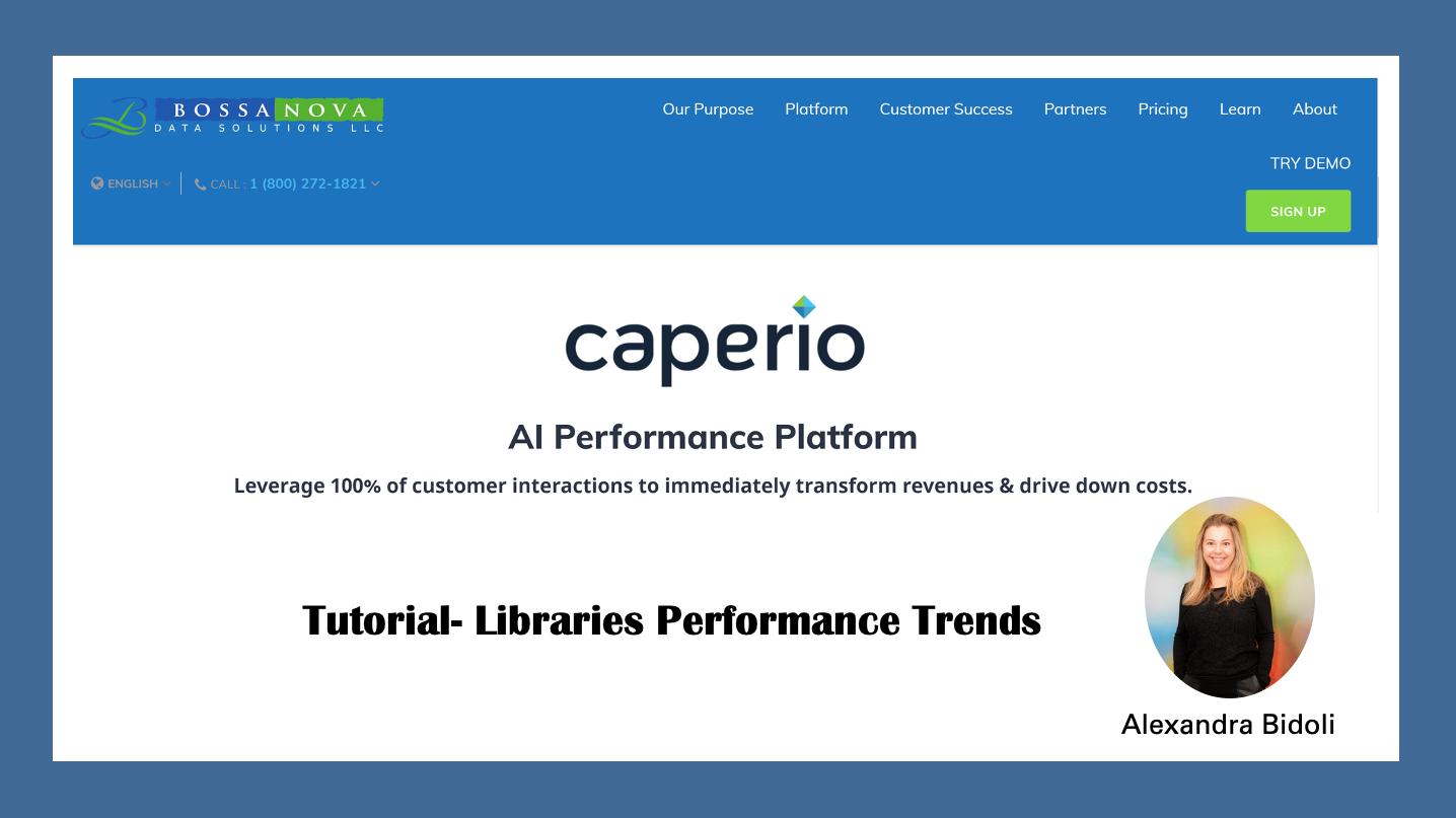 Caperio tendências das Bibliotecas de Cenários de Negócios