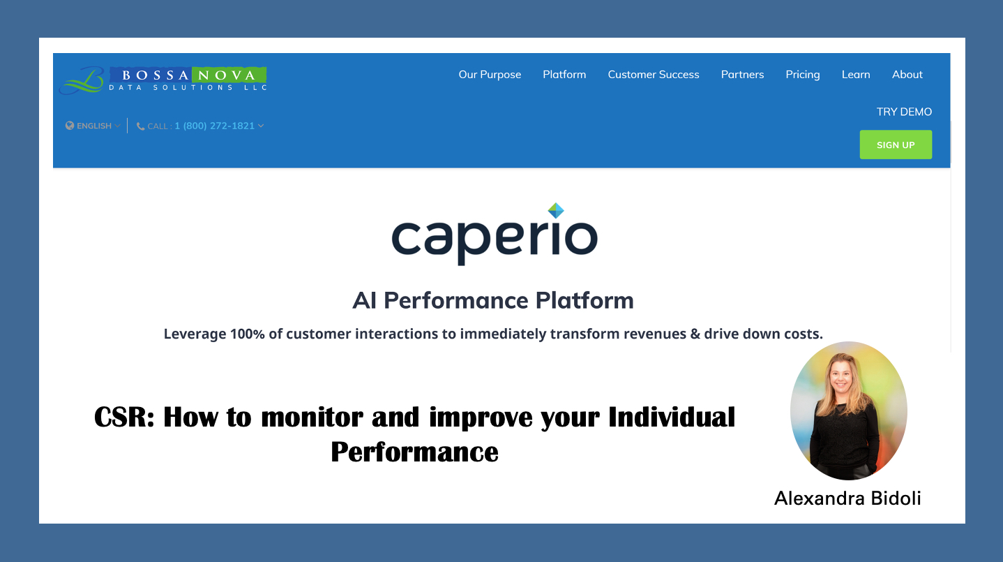 CSR: Como monitorear e melhorar o seu propio desempenho. com Caperio.
